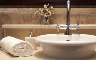 Beautiful sink in a bathroom